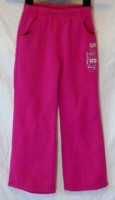 Girls Hanny Pink Sparkly Comfy Warm Fleece Inner Casual Joggers Age 5-6 Years