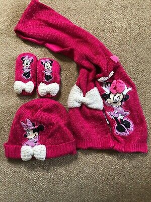 Disney Minnie Mouse Hat, Gloves And Scarf Set - Age 3-6 Years