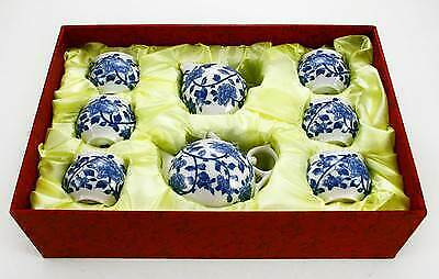 Chinese Porcelain Tea Set Oriental with 6 Insulated Cups Teapot Jug