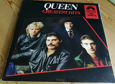 QUEEN - GREATEST HITS -  RED VINYL 2 x L.P. - LIMITED EDITION SEALED freddie mer