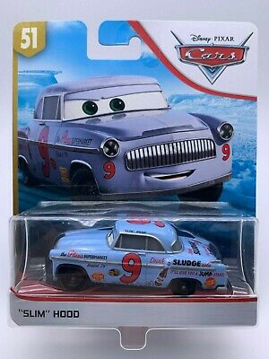 "Disney Pixar Cars Diecast Slim Hood Doc's Racing Days ""VHTF"""