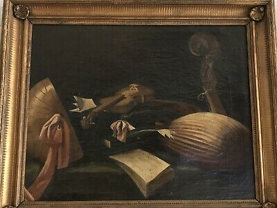 17-18th ITALIAN OLD MASTER  ANTIQUE OIL PAINTING STILL LIFE  Evaristo Baschenis.