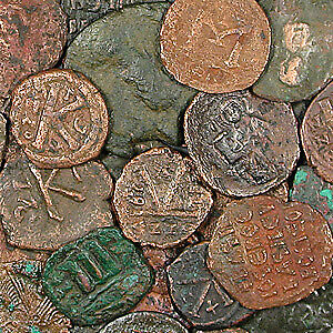 Bronze Coins of the Byzantine Empire (491-1453 AD) - SKU#42391