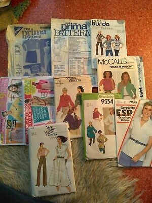 10 Women's Sewing Patterns, Unchecked, Used