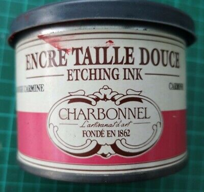 Charbonnel Etching Ink Carmine red 200ml Tin Studio clearance