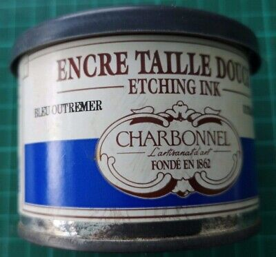 Charbonnel Etching Ink Blue Ultramarine 200ml Tin Studio clearance