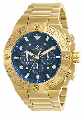 Invicta 25829 Pro Diver Chronograph Blue Dial Men's Gold Stainless Steel Watch
