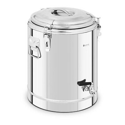 Stainless Steel Insulated Beverage Dispenser Thermos Container Drain Tap 30L