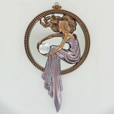 Art Deco Lady / Mirror Wall Art Plaque.New & Boxed.
