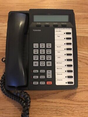 Toshiba DKT3210-SD Business Telephon 10Button Speaker LCD Digital Display Phone