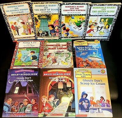Lot of 10 Children's Chapter Books 2nd grade BOYS Horrible Harry, Bailey School