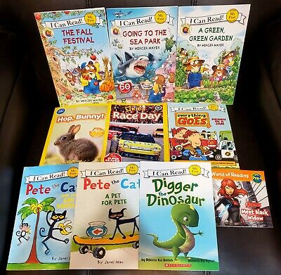 Lot of 10 Childrens Early Readers My First Pete the Cat LITTLE CRITTER Nat Geo