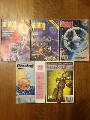 Job Lot Vintage Sci-Fi Pulp Magazines - Analog, Science Fantasy