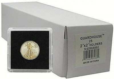 2x2 Snaplocks For 1/4 Oz Gold Eagle 22mm Box of 25 Coin Holders Guardhouse Tetra
