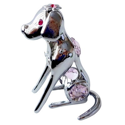 Crystal Crystocraft Labrador Ornament With Swarovski Elements (with Box)
