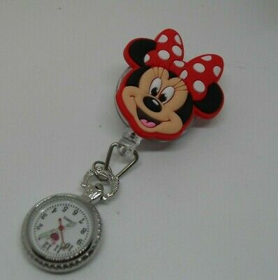 Minnie Mouse Retractable Fob Watch
