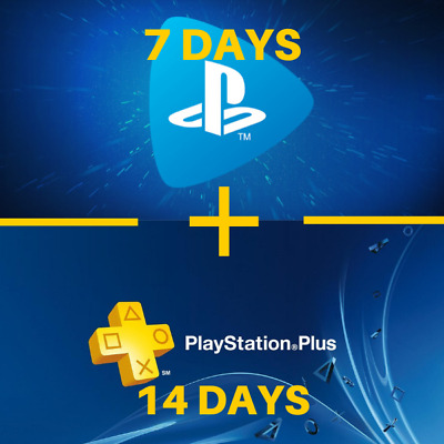 14 Days Ps Plus + 7 Days Ps Now / *Playstation 4 *Ps4 *Psn / ( No Code ) Us - Fr