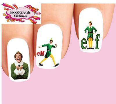 Waterslide Nail Decals Set of 20 - Elf The Movie Christmas Assorted
