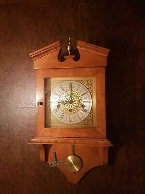 Three Key Pendulum Wind Up Wall Clock with Franz Hermle model 351-020 Movement