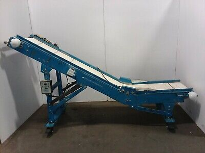 New London Engineering Cleated Incline Parts Chip Belt Conveyor Variable Speed