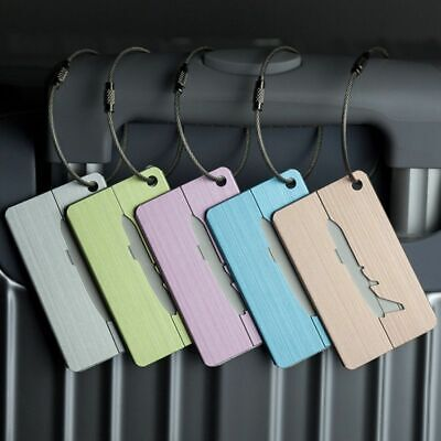 Travel Luggage Tag Suitcase Name Id Address Label Holder Baggage Boarding Tags