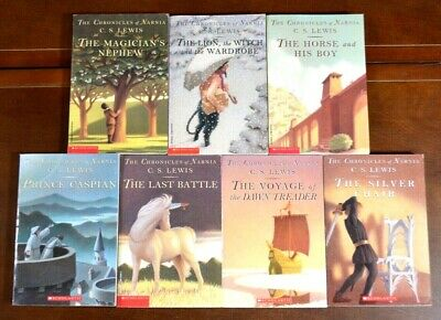 Complete Set 1-7 PB CHRONICLES OF NARNIA Books C.S. Lewis N1