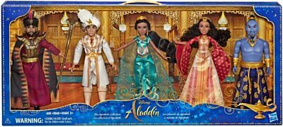 Hasbro Disney Aladdin Agrabah Collection 5 Fashion Dolls Live Action - Open Box