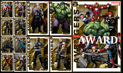 Topps Marvel Collect Card Trader Avengers 2Nd Printing [Set 12 Cards]