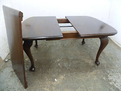 extending,wind out,dining table,cabriole legs,table,antique,edwardian,mahogany