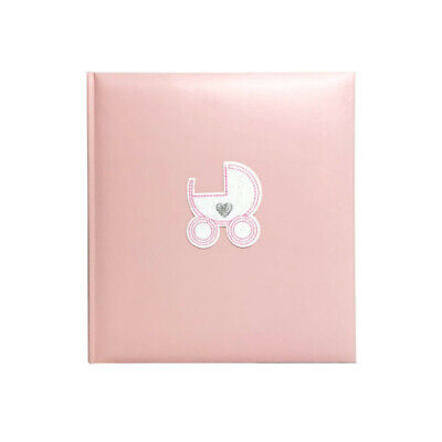 New Profile Baby Pram Pink Drymount Photo Album - 80 Pages
