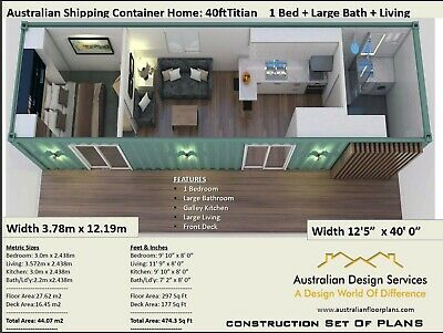 40 Foot Shipping Container House Plans