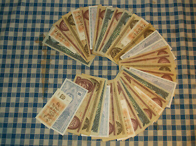 36 banknotes of Hungary, Lithuania and Macedonia  -  no reserve