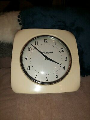 Charnwood Retro Cream Enamel Wall Clock 10""