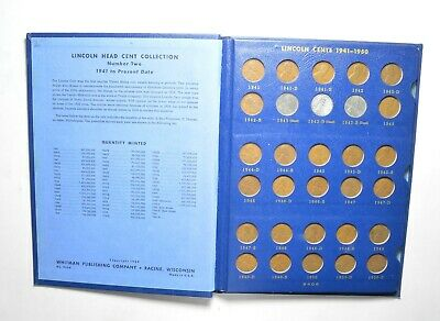COMPLETE 1941-58 Lincoln Wheat Cent Set - Inc. Steel Cents - NICE Album