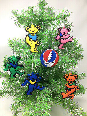 The Grateful Dead Dancing Bears Christmas Tree Ornament 6 Piece Set. ***NEW***