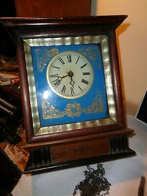 Antique-Wooden Plate-Wall Clock Movement-Ca.1870-To Restore-#K29
