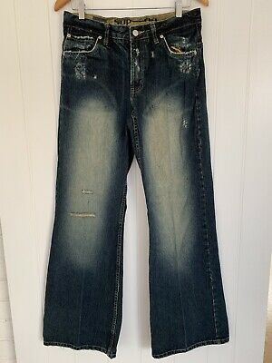 Industrie Superdry Mens Wide Legged Jeans Size 32