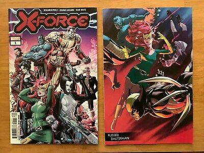 X-FORCE #1 DX Dustin Weaver Main Cover + Dauterman Young Guns Variant 2019 NM+