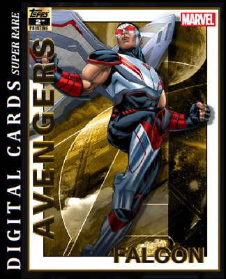 Topps Marvel Collect Card Trader Avengers 2Nd Printing Falcon 750Cc