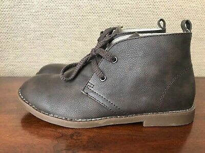 GAP KIDS BOYS BROWN DESERT LACE UP TIE BOOTS SHOES Sz 2 New Without tags