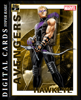 Topps Marvel Collect Card Trader Avengers 2Nd Printing Hawkeye 750Cc