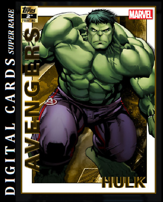 Topps Marvel Collect Card Trader Avengers 2Nd Printing Hulk 750Cc