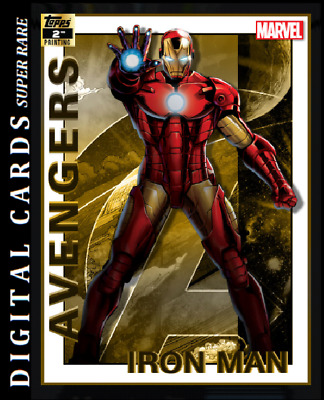 Topps Marvel Collect Card Trader Avengers 2Nd Printing Iron-Man 750Cc
