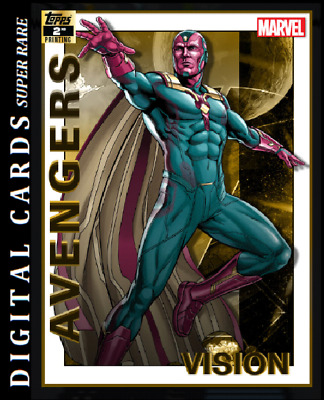 Topps Marvel Collect Card Trader Avengers 2Nd Printing Vision 750Cc