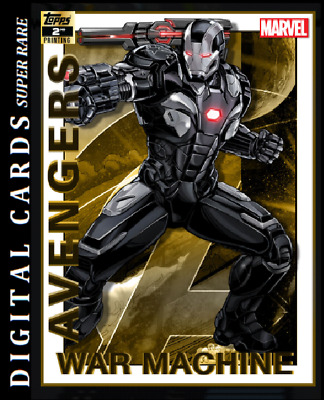 Topps Marvel Collect Card Trader Avengers 2Nd Printing War Machine 750Cc