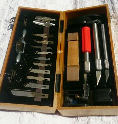Vintage 1980's portable Woodwork Craft tool kit in carry case.Brand LK,Taiwan.
