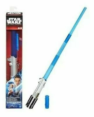Star Wars blue REY Starkiller Base Electronic Lightsaber BLADEBUILDERS