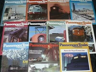 Lot of 11 Vintage Back Issues Passenger Train Journal PJT Complete Year of 1980
