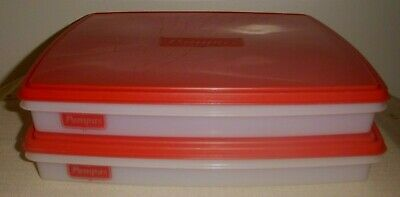 2 x PAMPAS PASTRY Storage Containers