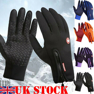 Mens Touch Screen Real Leather Gloves Thermal Lined Black Driving Winter Gift Uk